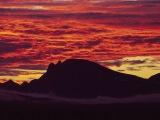 Západ slnka za polárnym kruhom...