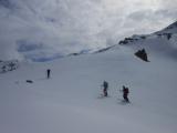 Smer sedlo Passo di Campagneda A a ďalej po hrebeni na Pizzo Scalino...
