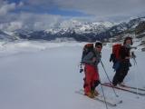 Smer sedloPasso di Campagneda A a ďalej po hrebeni na Pizzo Scalino...