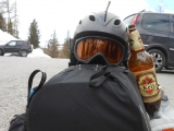 Použitý skialpinista...