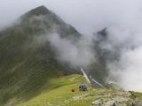 Chvíľa oddychu na hrebeni Transilvánskych Álp...