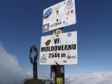 Vrchol Moldoveanu 2544 metrov, najvyšší vrchol Rumunska...