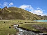 Na brehoch jazera Yamdrok- Tso (4 439m)