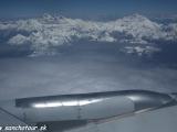 Let do Tibetu ponad M.Everest a Makalu...