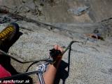Horolezci na skale Moro Rock...
