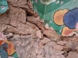 Zničený budhistický chrám v Jantarkhani...