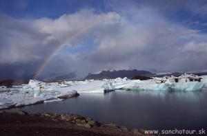 Jokulsarlón-ľadovcová-lagúna